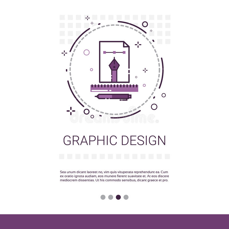 Graphic Design Illustration Development Computer Programming Technology Banner With Copy Space. Vector Illustration vector illustration
