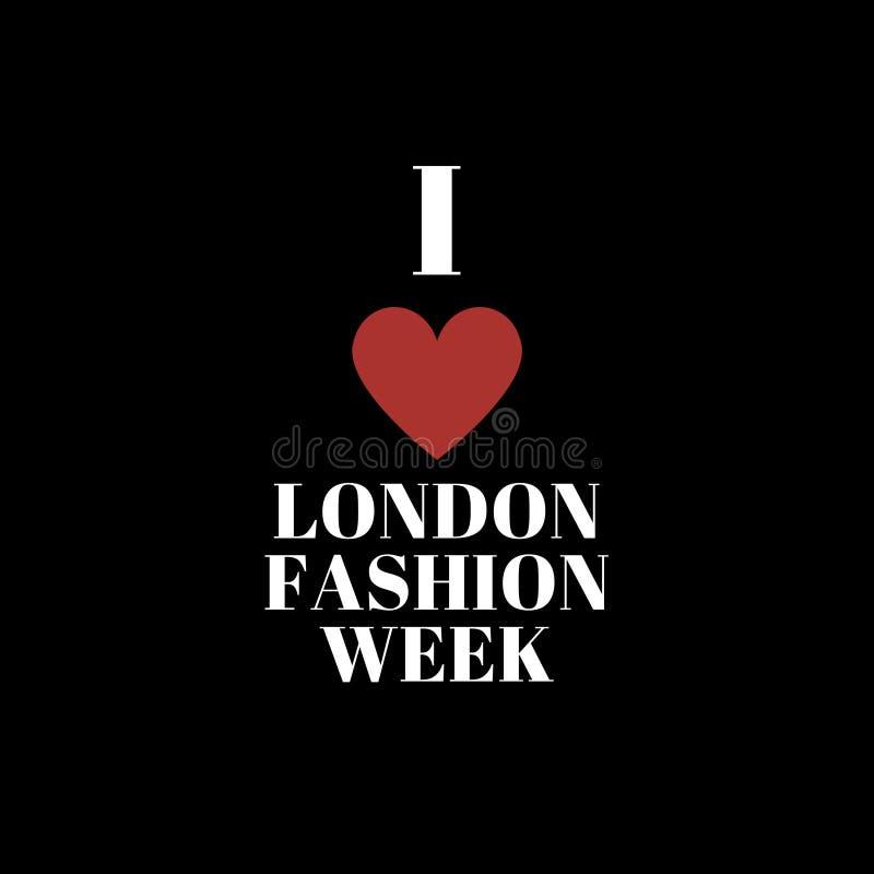 I love London fashion week poster stock illustration