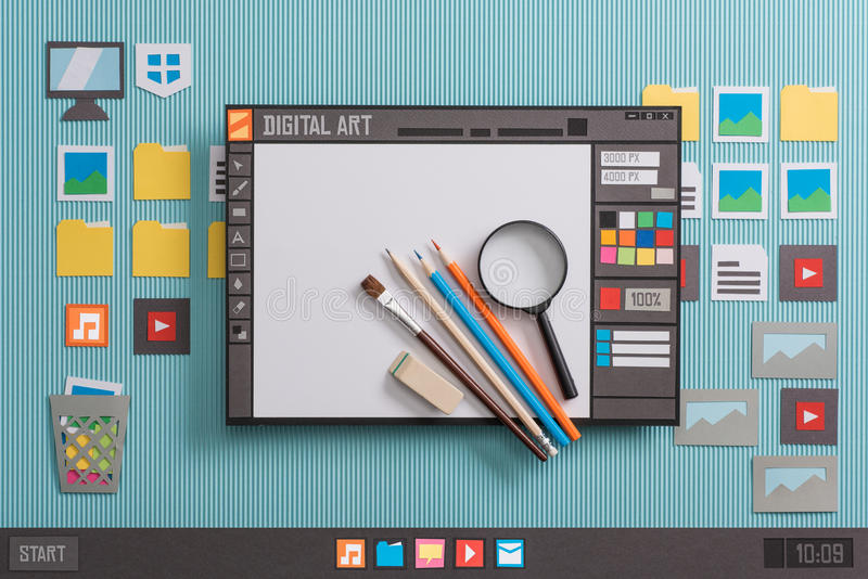 Graphic design software royalty free stock photography
