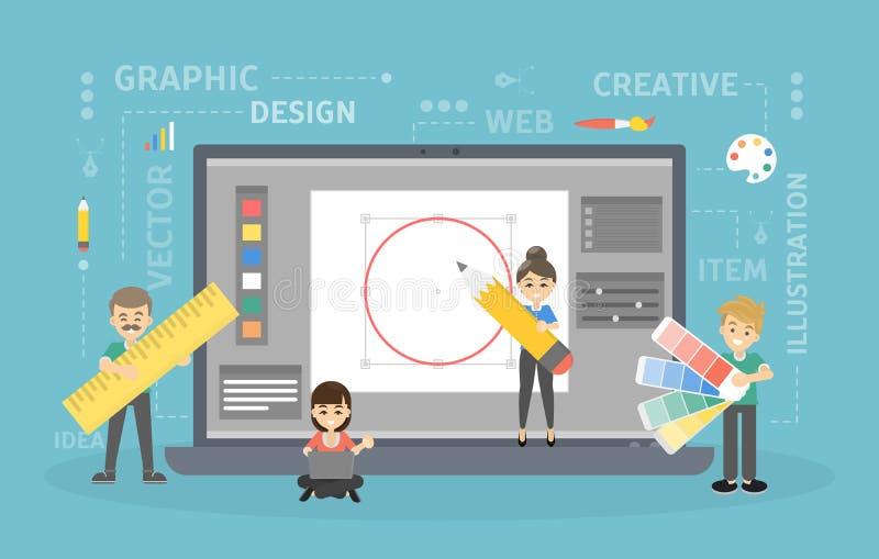 Graphic design work. royalty free illustration