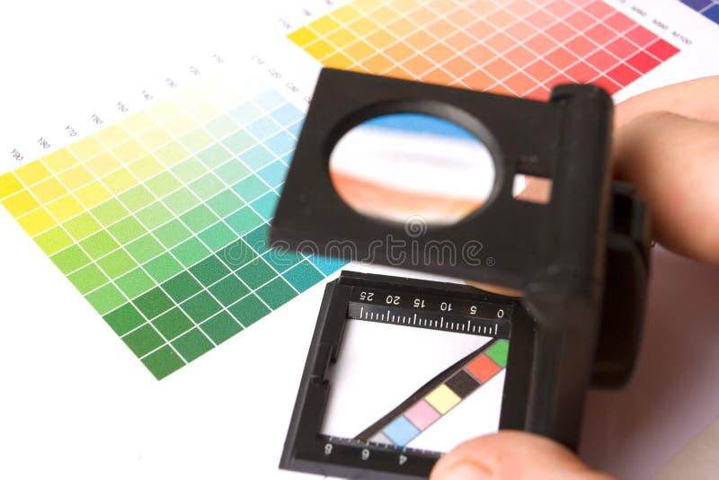 Graphic designer or printer royalty free stock photos