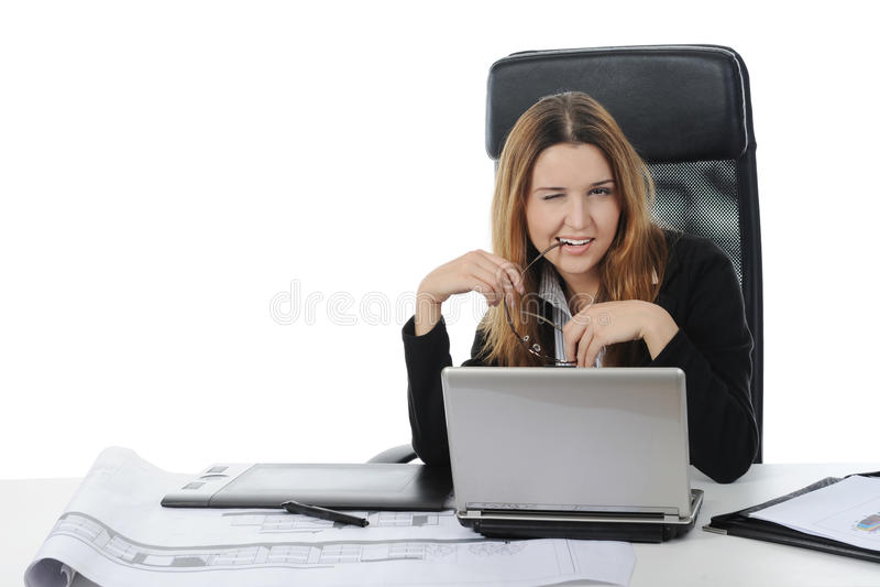 Graphic designer working using pen tablet
