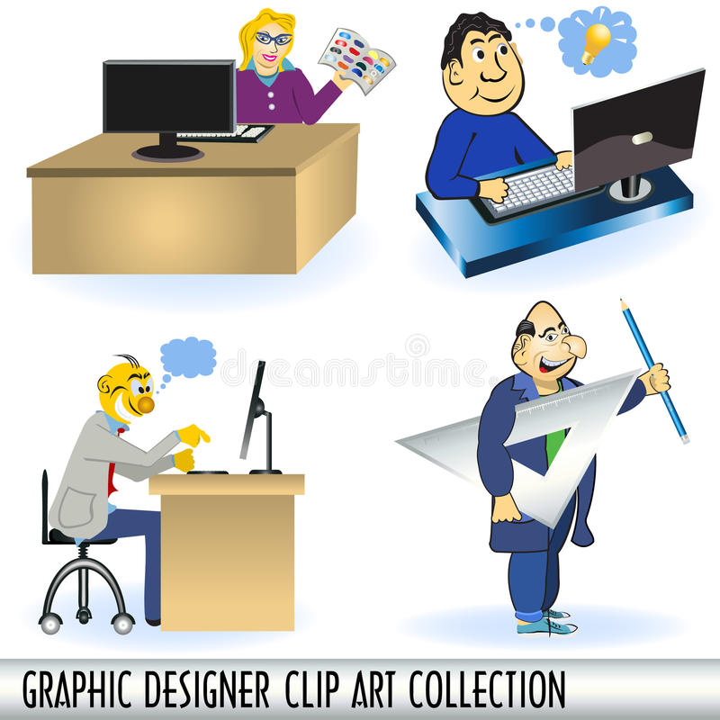 Download Graphic designers stock vector. Illustration of professional - 17038135