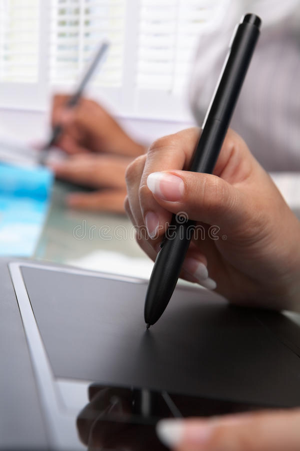 Graphic Designers Working Stock Photography