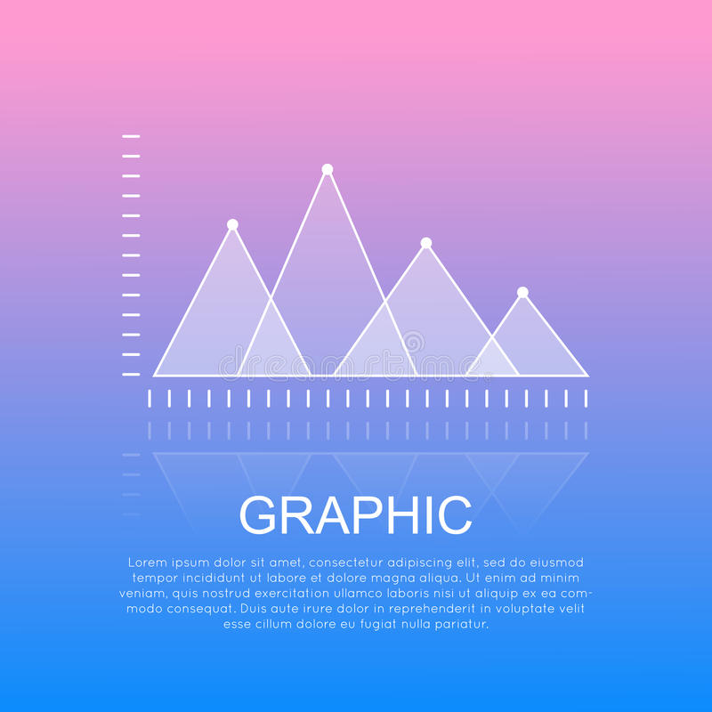 Graphic Diagram with Triangular Marks Report. royalty free illustration