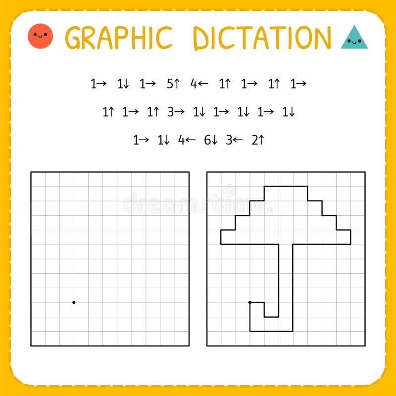 Free Graphic Dictation. Umbrella. Kindergarten Educational Game For Kids. Preschool Worksheet For Practicing Motor Skills. Working Royalty Free Stock Images - 148768529