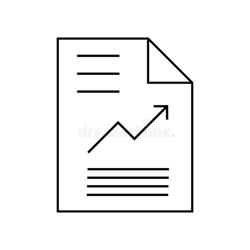 Graphic document or report with chart icon vector. Paper reporting illustration symbol. analysis symbol. For web vector illustration