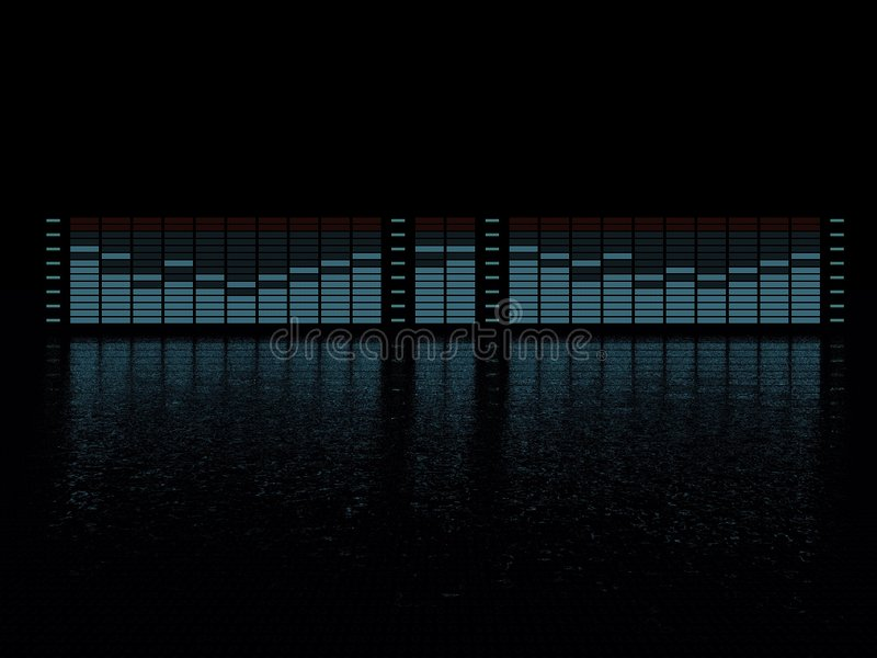 Graphic equalizer royalty free illustration