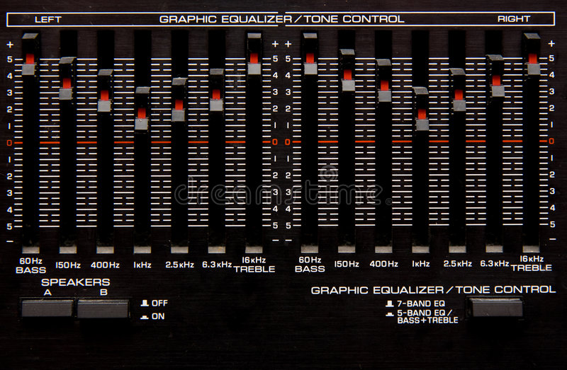 Download Graphic Equalizer stock photo. Image of fidelity, sliders - 8756650