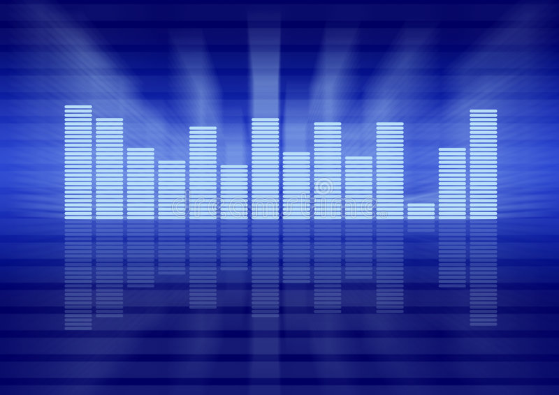 Graphic equalizer concept royalty free illustration