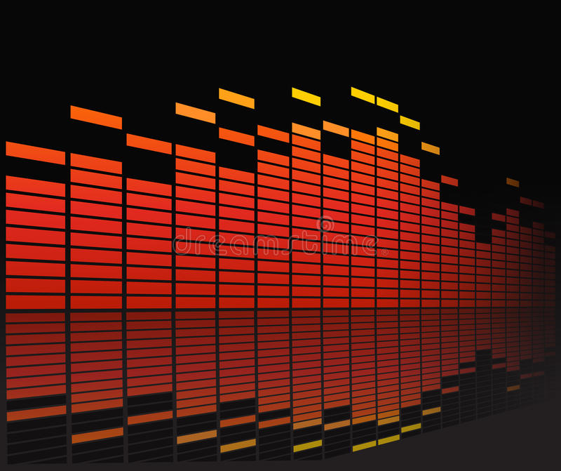 Graphic Equalizer In Perspective Royalty Free Stock Photos