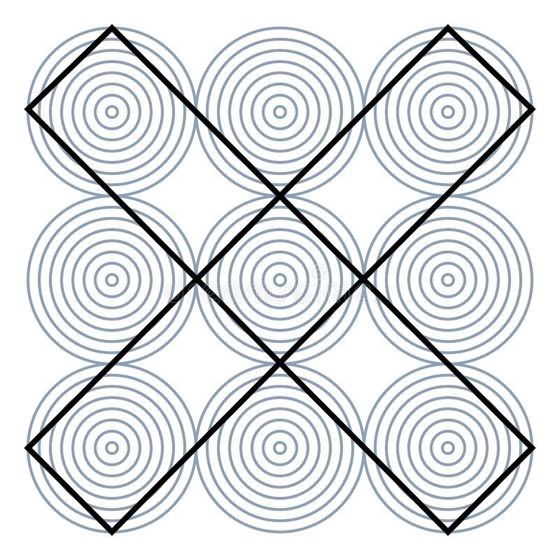 Free Graphic Fiction And Visual Paradox. Hypnotic Optical Illusion. Different Magical Shapes To Deceive Brain. Royalty Free Stock Photography - 114026417