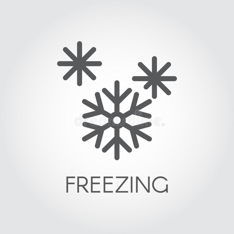 Graphic Icon Of Snowflake Line Symbol Of Frozen Food Product