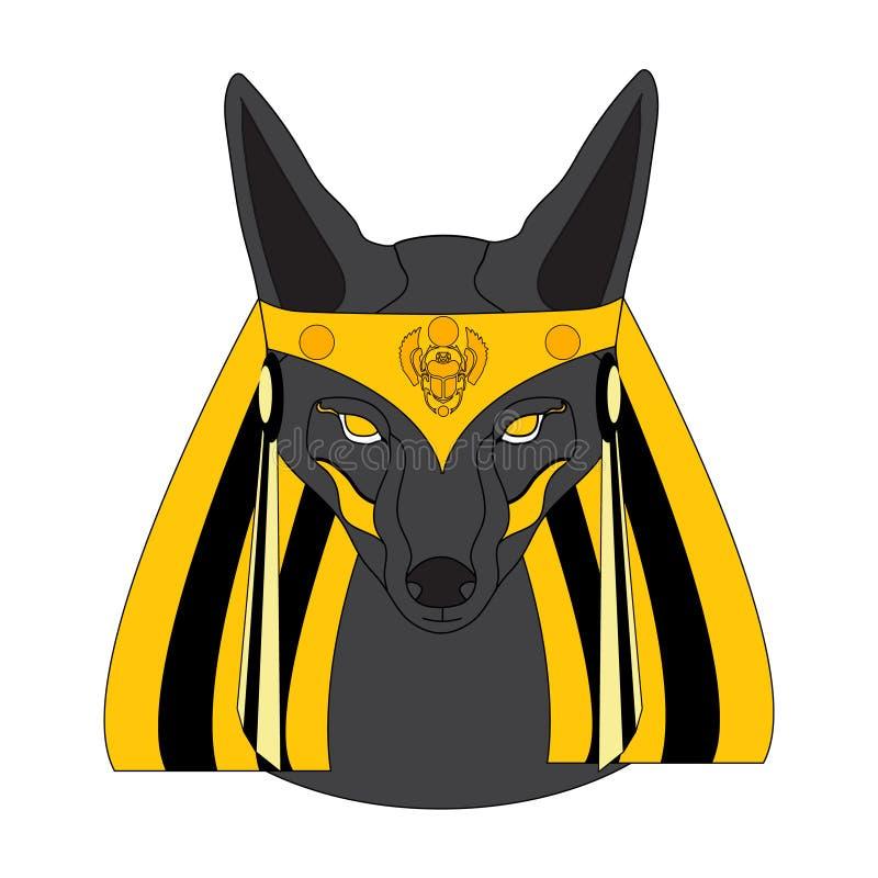 Graphic illustration of Anubis stock image