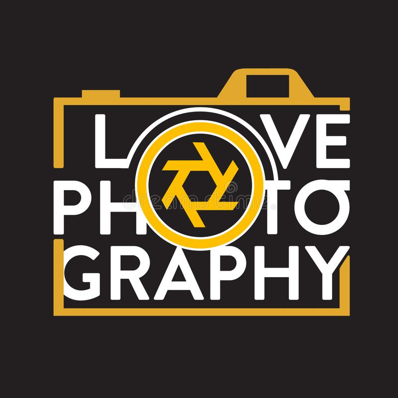 Advert for photography  stock illustration