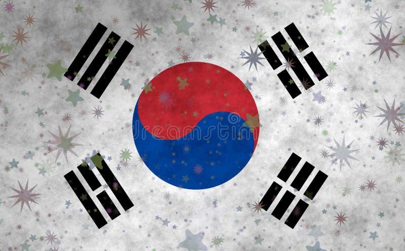 Korean Flag with star motives. Graphic illustration of Korean Flag with star motives stock illustration