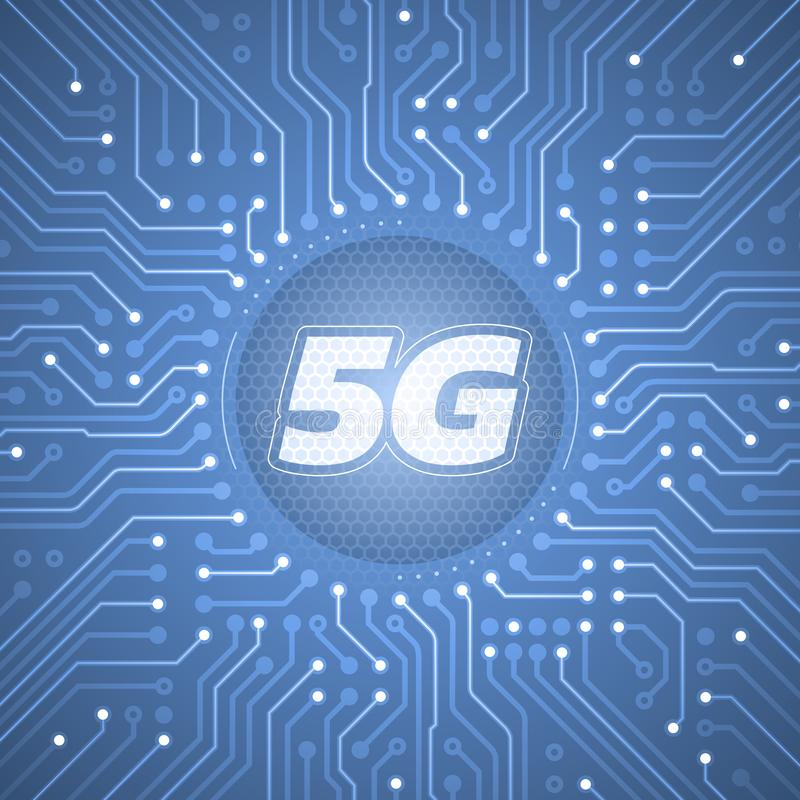 5G - 5th Generation Wireless Systems royalty free illustration