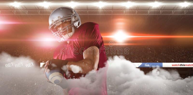 Graphic image of stadium. With smoke royalty free stock image