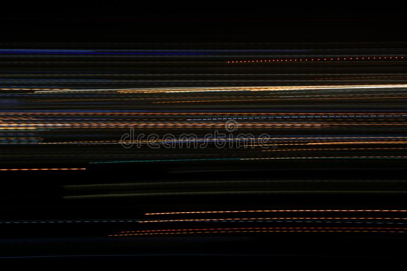 Graphic lines from long exposure photography stock photo