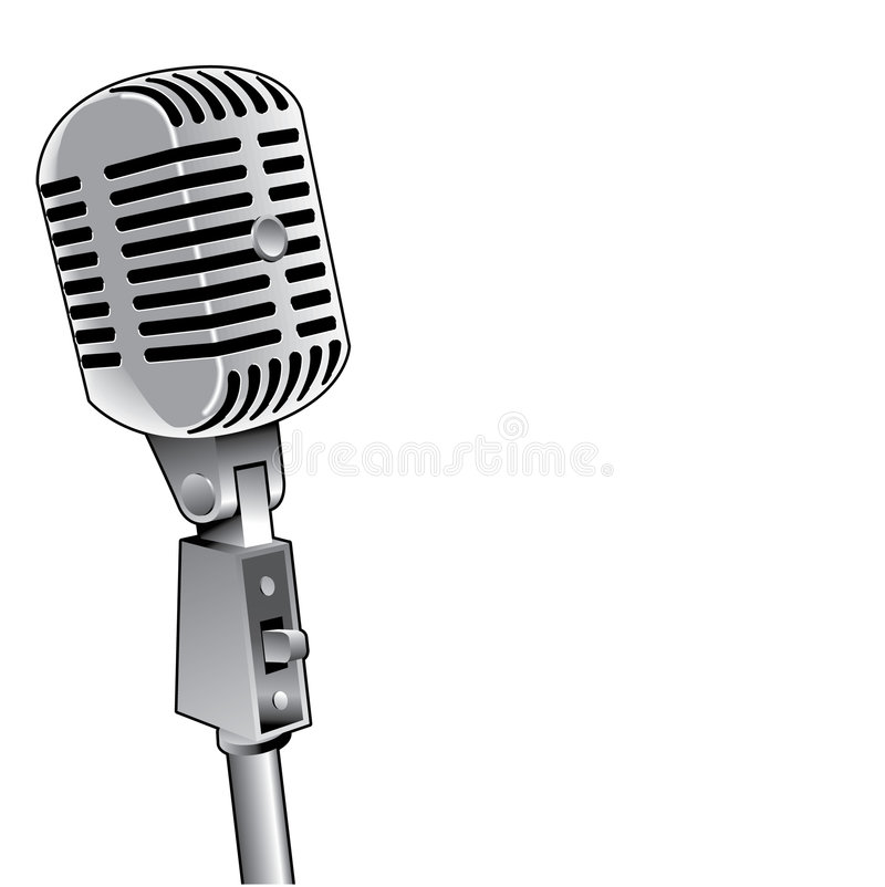 Graphic of microphone vector illustration