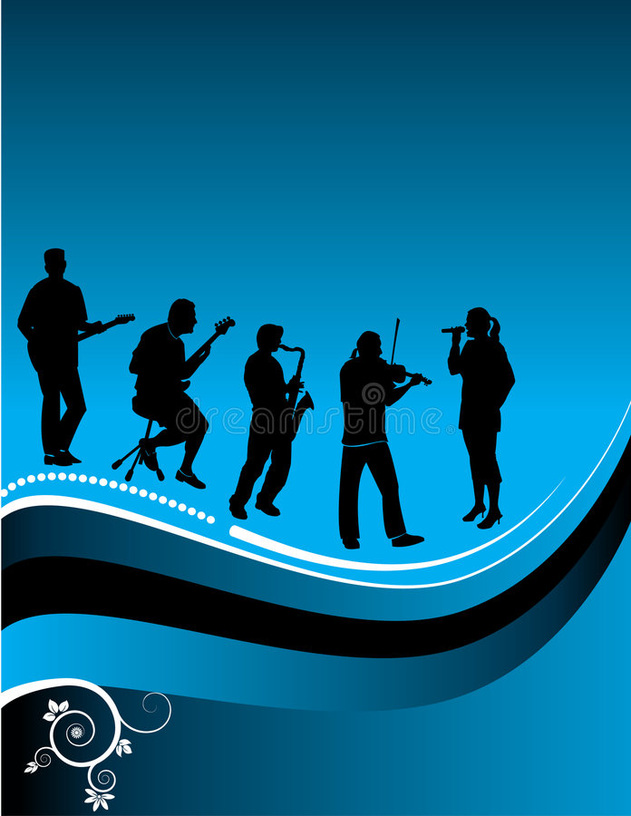 Download Graphic of musicians stock vector. Image of instrument - 5002511