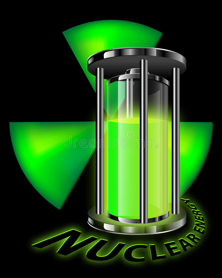 Graphic of nuclear energy stock photos