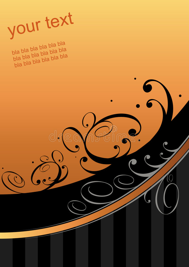 Download Graphic orange swoosh stock vector. Image of background - 5892765