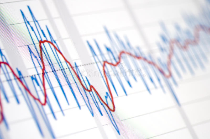 Graphic pattern. On the stock market values stock photo