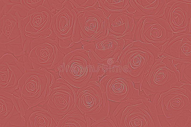 Graphic pattern of rose petals royalty free stock images