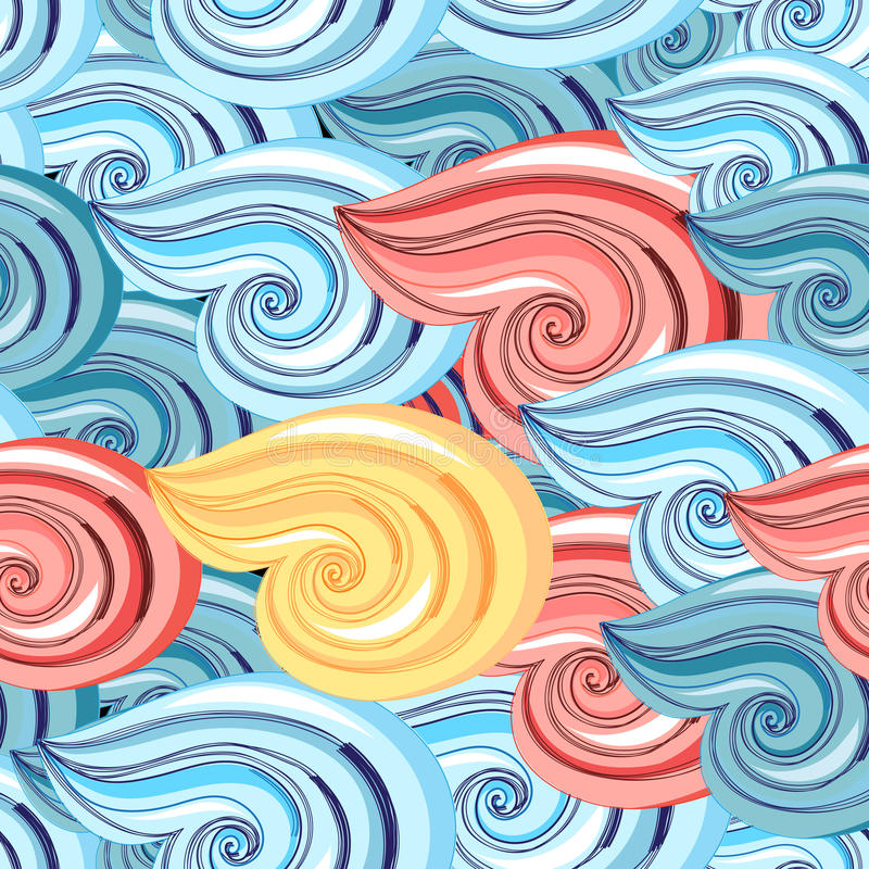 Graphic pattern of waves stock illustration