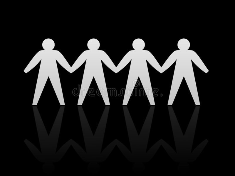 Graphic of people linked vector illustration