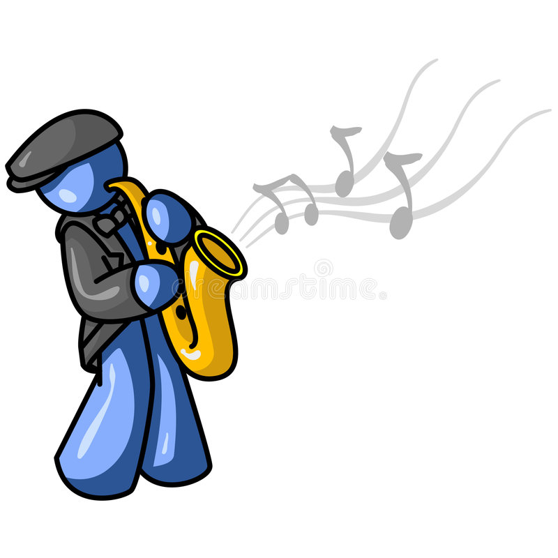 Graphic Of Saxophone Player Royalty Free Stock Images