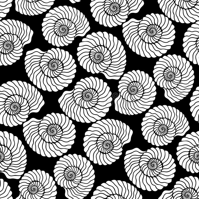 Free Graphic Seashell Pattern Royalty Free Stock Photo - 81519955