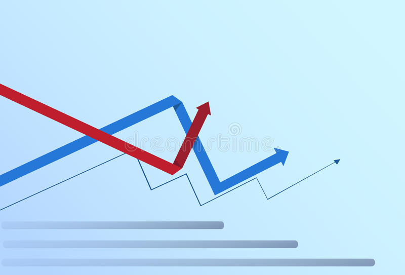 Graphic Set Finance Arrows Chart Infographic Financial Business Growth. Flat Vector Illustration vector illustration