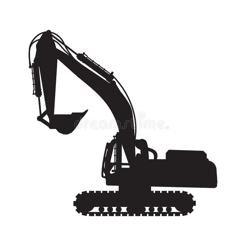 Free Graphic Silhouette Backhoe, Vector Royalty Free Stock Images - 164608459