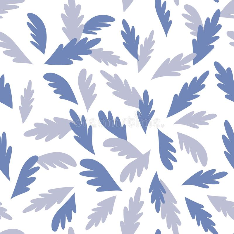 Graphic Simple Decorative Abstract Leaves Seamless Pattern royalty free illustration