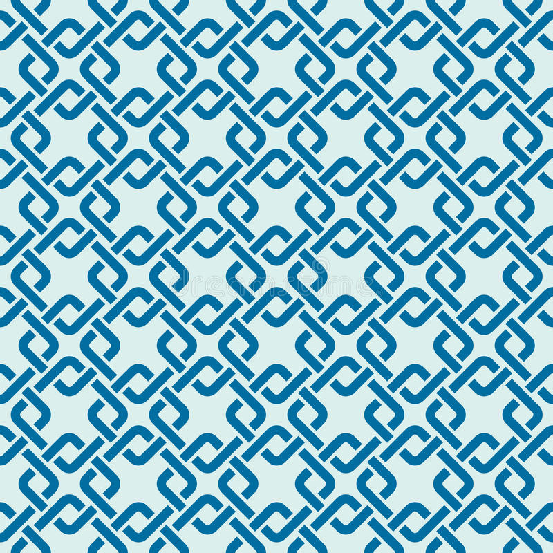 Graphic simple splicing ornamental tile, vector repeated pattern royalty free illustration