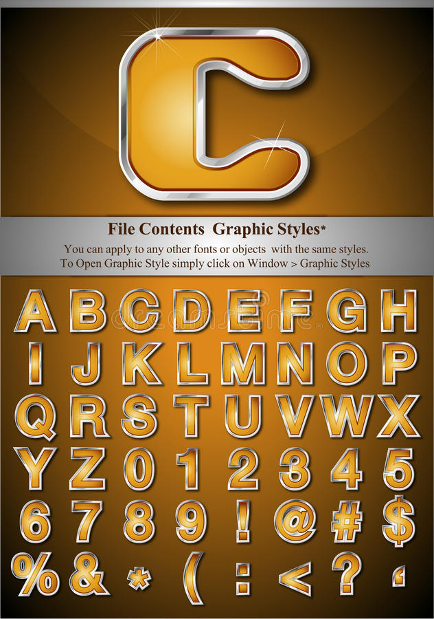 Download Graphic Style Letters stock illustration. Image of heading - 19660026