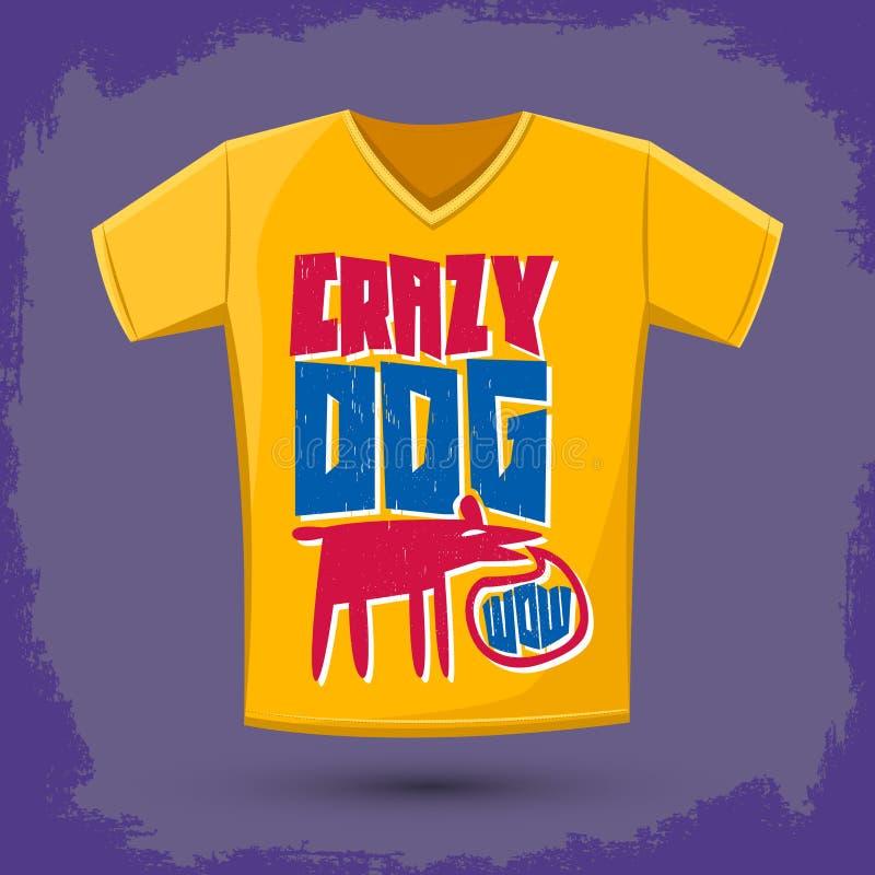 Free Graphic T-shirt Design - Crazy Dog Royalty Free Stock Photo - 69213665