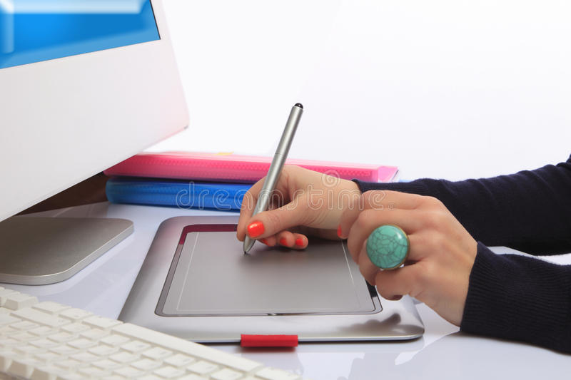 Download Graphic Tablet Royalty Free Stock Image - Image: 18989896