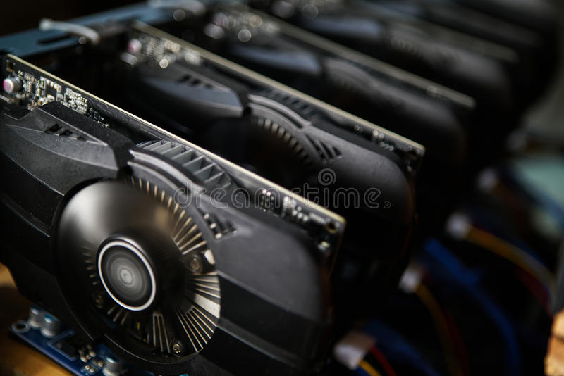 Graphic video Card stock photo