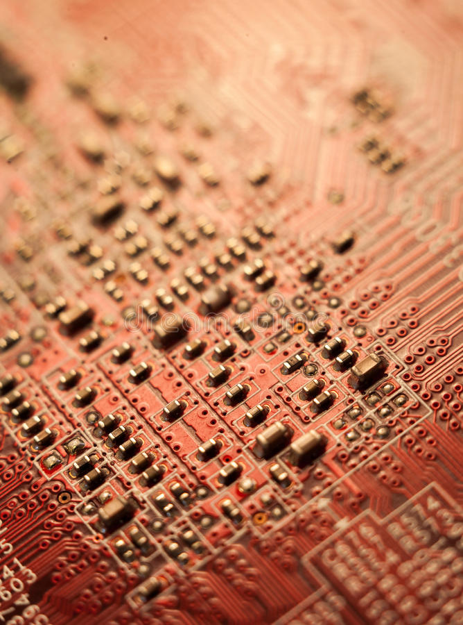 Graphic video card macro shot stock images