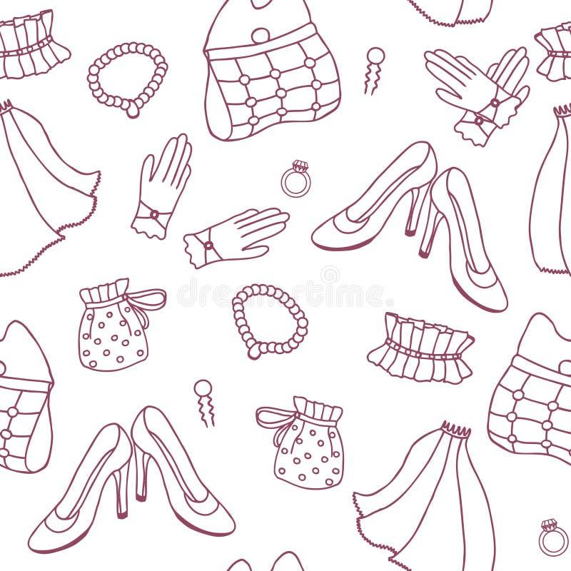 Graphic wedding seamless pattern stock photos