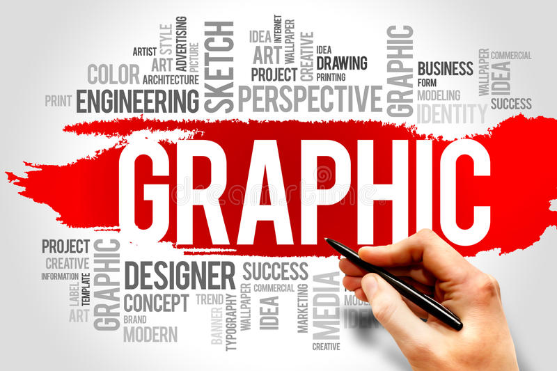 Graphic. Word cloud design concept stock photos