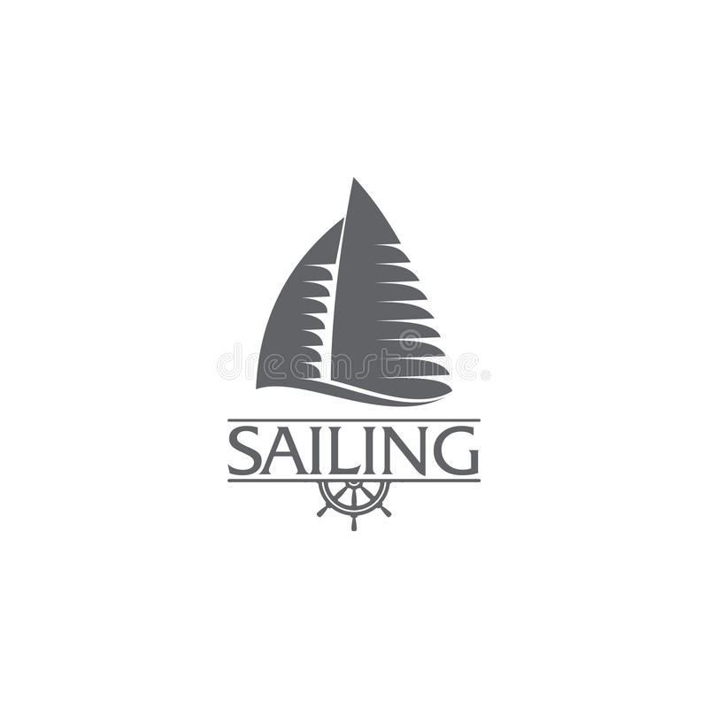 Graphic yacht club sailing sport logo template with steering download graphic yacht club sailing sport logo template with steering wheel stock vector illustration toneelgroepblik Image collections