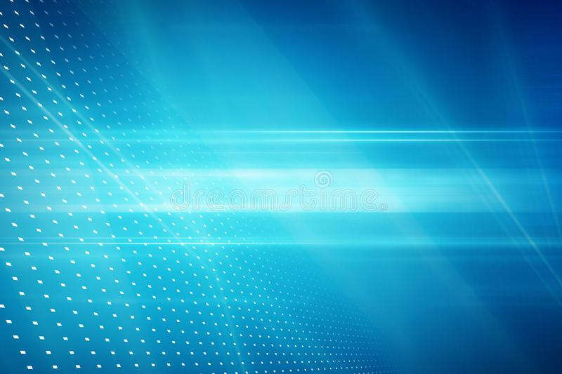 Graphical abstract technology background, light rays on blue back vector illustration
