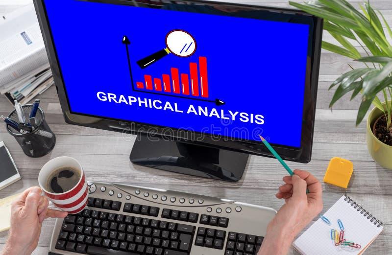 Graphical analysis concept on a computer stock photos