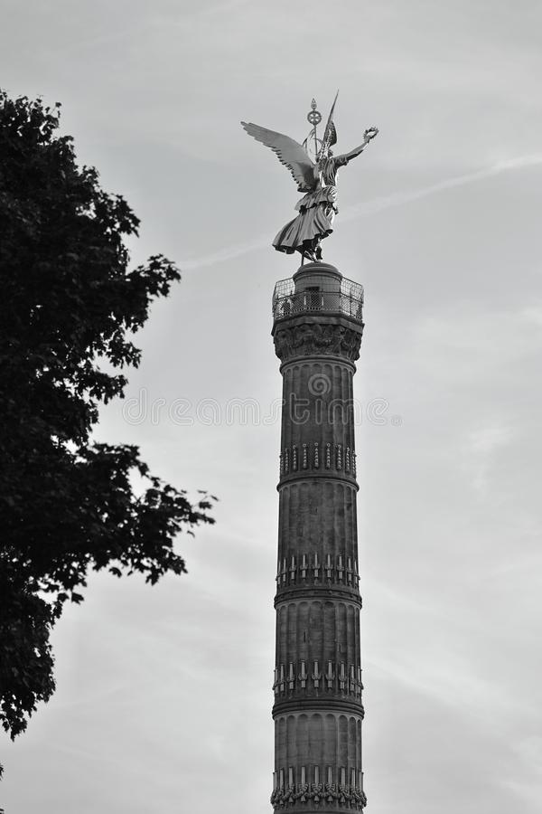 A graphical back view of Victory Column Siegessäule, Berlin, Germany Deutschland. The Victory Column German: Siegessäule is a monument in royalty free stock image
