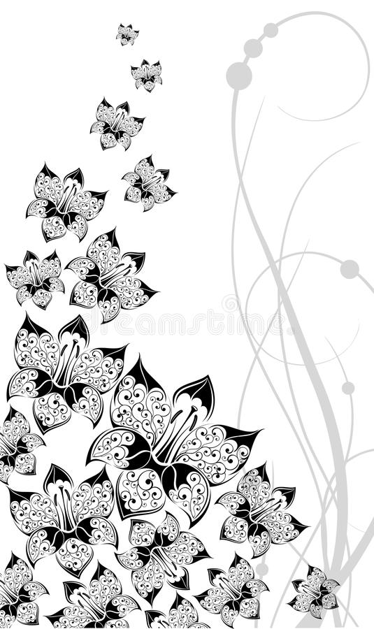 Download Graphical Background With Flowers Stock Image - Image: 14834921