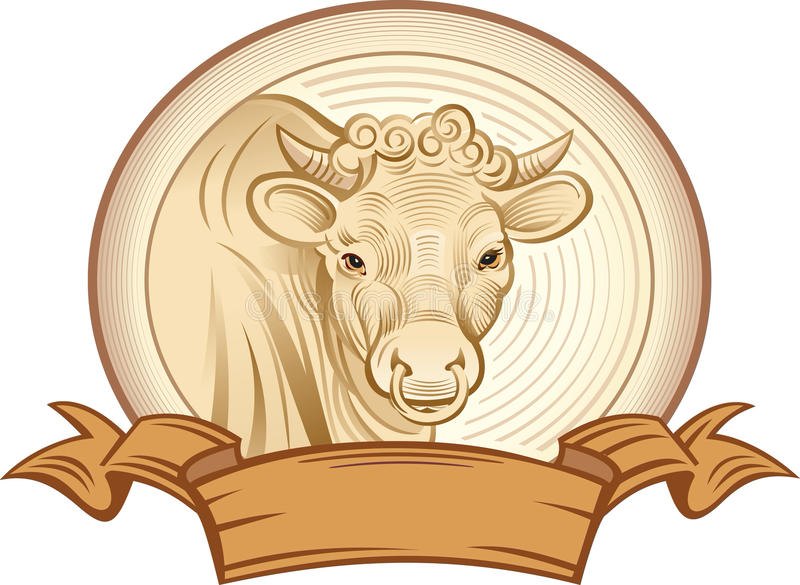 Download Graphical bull stock vector. Image of pasture, rural - 33836599